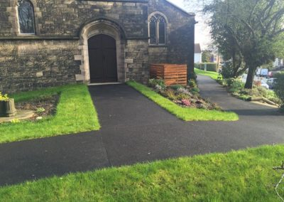 Extensive tarmac area completed to the external area of the church
